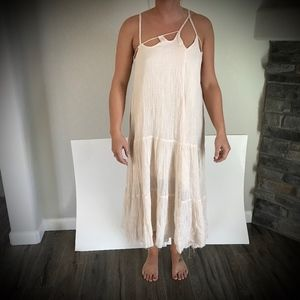 Free People ONE Asymmetrical Raw Hem Boho Dress S